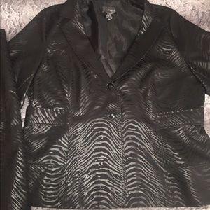 Dresses & Skirts - Sassy zebra striped blazer and skirt